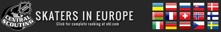 NHL CENTRAL SCOUTING TOP 31 EU