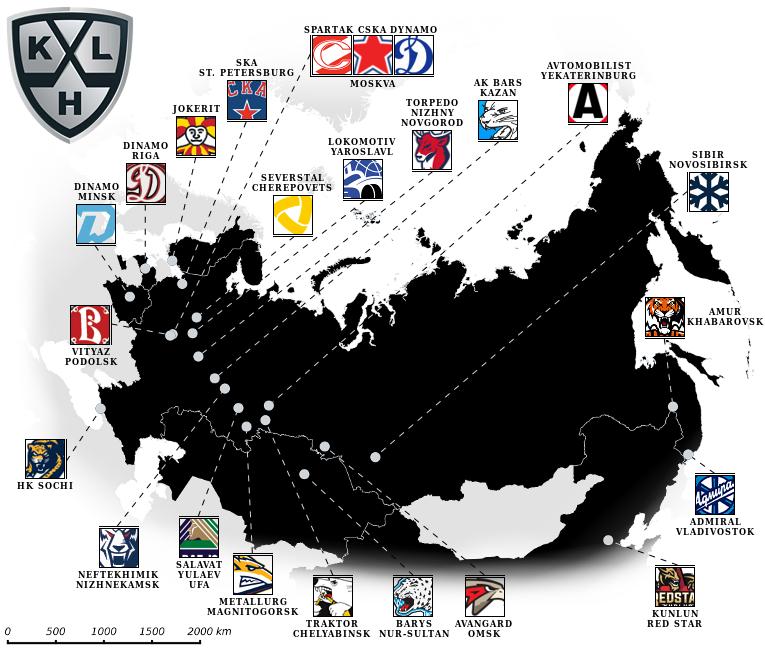 Kontinental Hockey League Tabelle