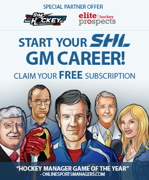 Free Hockey Manager game via Elite Prospects